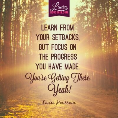 Conquer Your Fear and Stop Eating So Much Food in Four Easy Steps – focus on progress motivational quote e1448844674105 – image