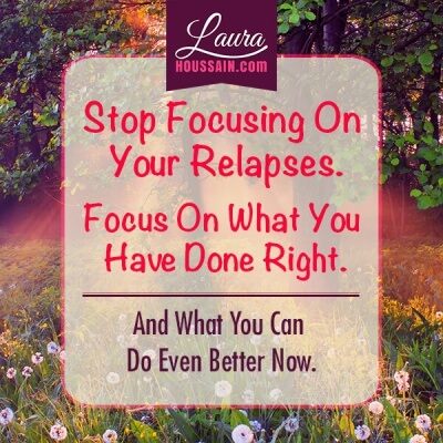 How to Overcome Binge Eating Disorder with the Twelve Step Program – focus on relapses progress quote FB e1448847503353 – image