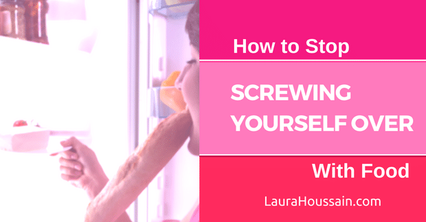 How to Stop Screwing Yourself Over With Food! (Blog Post+ Free Worksheet)  Tired of eating too much food without control? This over 50-year proven practice will change the way you treat yourself forever. It takes two to five minutes a week and works remarkably well!<br /> This blog post is the last episode on how to use self-nurturing and self-care to break free from binge eating and overeating. In the post, I tell you more about Sarah and the results she's getting...<br /> Read now and grab your free worksheet at http://laurahoussain.com/stop-screwing-yourself-over-with-food/ and enjoy finding relief, peace, and satisfaction without food.