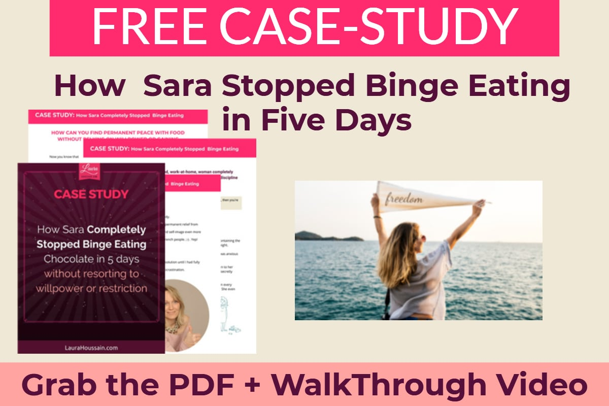 The Binge Eating and Self-Control Myth Debunked! Yes! You Can Stop Binging (Effortlessly) – sara stopped binge eating forever story – image
