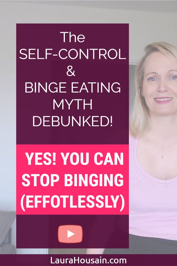 Do you think more self-control will help you stop binging and emotional eating?  If so, stop!  Read this or risk fighting food forever. Seriously!