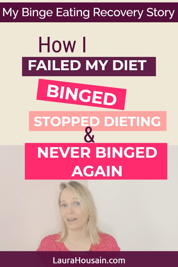 How I managed to never binge again after failing my diet and experiencing my first #binge. Plus, the four steps you can follow to maintain a healthy weight without dieting I have used in the past 15 years to weight exactly the same weight without dieting. Video + Free mind map #stopbingeeating #stopdieting #bingeating #bingeeatingrecovery #lauarhoussain #neverbingeagain